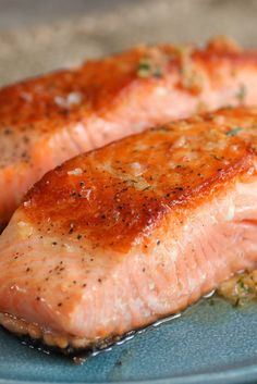 Broiled Salmon With Chile, Orange and Mint Butter Recipe - NYT Cooking Smoked Salmon Recipes, Fish Recipes, Seafood Recipes, Cooking Recipes, Fish Dishes, Main Dishes, Lemon Salmon, Baked Salmon, Steak Recipes