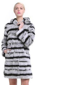 ec5cd8f226 SARSALLYA Women's Real Rex Rabbit Fur Coat Natural Fur Winter Jacket Women  with hood Outerwear with Genuine Fur Real Fur coat