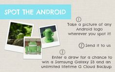 #Giveaway #Free #Win #SamsungS3 Android user or not, take a picture of any android logo wherever you spot it for a chance to win
