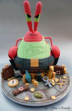 Mr Krabs Cake