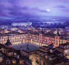 Luis Romero. Plaza mayor de Madrid. 'El Madrid de los austrias'