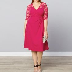 Tenworld Women Lace Casual Cocktail Wedding Bride Dresses Plus Size * Check out this great product. (This is an affiliate link) #Plussizeweddingdresses