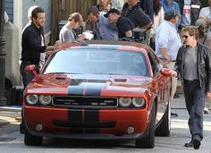 Ryan Reynolds and Kevin Bacon were spotted on set filming scenes for an upcoming movie in a Dodge Challenger SRT8.