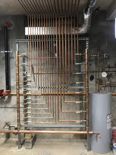 HVAC Can Be Easy With This Guide. You have to have your HVAC system, so allowing it to fall into wrack and ruin isn't acceptable. Plumbing Humor, Pex Plumbing, Plumbing Drains, Mechanical Room, Plumbing Installation, Heating Systems, Cool Rooms, Home Projects, Locker Storage