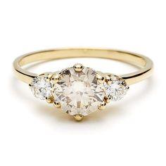 Anna Sheffield Three Diamond Hazeline Ring