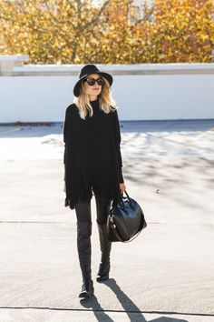 How to Wear an All-Black Outfit, via @glitterinc