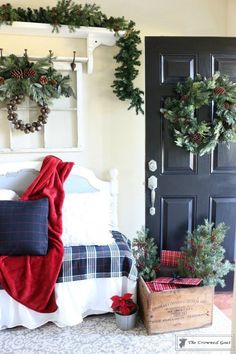 Mad for Plaid Christmas Entry – We're excited to kick off our holiday home tour with our Mad for Plaid Christmas Entry along with some of our favorite bloggers. A big thank you to our friends, 2 Bees in a Pod, for hosting this Come Home for Christmas series…