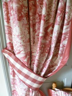 Toile De Jouy Vintage French Curtains Pair. Shabby Chic Circa 1980's. £59.99, via Etsy.