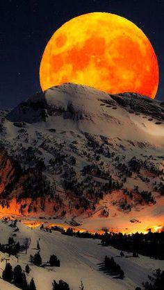 Good Night world with beautiful Harvest Moon .... #goodnight   #beautifulmoonrise   #moonlight   #moonphotography   #harvestmoon   #goodnightworld   #beautifulplanetearth