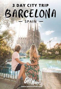 Barcelona city trip pin