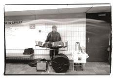 Toby, photographed on the Boston MBTA Subway Platform circa 1999-2000