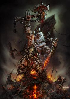 Concept art for Diablo 3: Barbarian