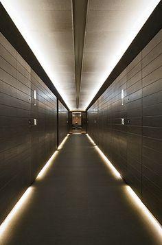 Hallway, Armani Hotel Dubai by Giorgio Armani and Wilson Associates _