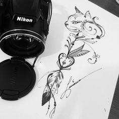 Love this – Tattoos 4 Tattoo, Mandala Tattoo, First Tattoo, Forearm Tattoos, Body Art Tattoos, Sleeve Tattoos, Tattoo Gato, Mini Tattoos, Cute Tattoos