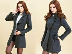 Cheap Winter Women minimalist collar wool coat Korean Slim casual fleece jacket and long sections Wool / Blends in Wool & Blends from women ...