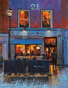 Davy Byrnes by Chris McMorrow (code-390) - PRINT Dublin Pubs, Dublin City, Irish Republican Brotherhood, Building Art, Cafe Restaurant, Painting Prints, Paintings, Fine Art Paper, Architecture Art