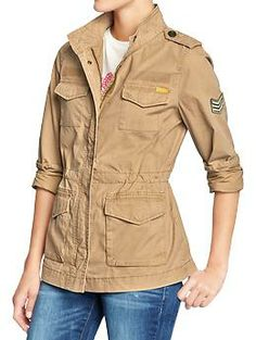 Womens Zip-Front Military Jackets - LOVE. Use code ONSAVENOW to save 20%