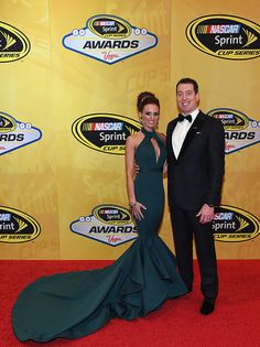 Kyle and Samantha Busch at the 2015 NASCAR Cup Awards Banquet