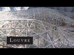 Wellenförmiges Segel: Überdachung des Cour Visconti im Louvre Paris - DETAIL.de - das Architektur- und Bau-Portal