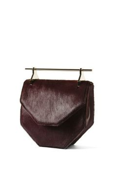 Amor/Fati In Purple Pony With Gold Hardware by M2Malletier for Preorder on Moda Operandi