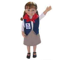"""18"""" Doll - Girls 'n Grace has Explorer and Tenderheart uniforms for 18"""" dolls - $34.99, footwear not included"""