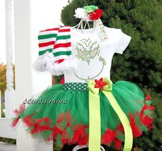 Hey, I found this really awesome Etsy listing at https://www.etsy.com/listing/166949428/grinch-tutu-grinch-dress-girls-holiday
