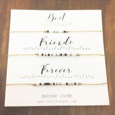 Best Friends Forever Morse Code Bracelet - Friendship Bracelet - Best Friend Gift - Minimalist Jewelry - Personalized Bracelet