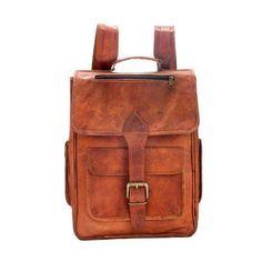 18c2e7e09120 Handmade Genuine Leather Satchel School Office Cross body Messenger Bag   Handmade  MessengerShoulderBag Brown Leather