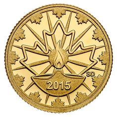 Canada 25 Cents Gold Coin 2015 Diwali - Festival of Lights A stunning keepsake that will become a cherished family heirloom to enrich. Diwali Festival Of Lights, Gold Bullion Bars, Canadian Coins, Coin Design, Coin Art, Gold And Silver Coins, Gold Stock, Rare Coins, Coin Collecting