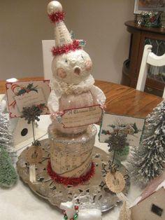 My paper mache' snowman