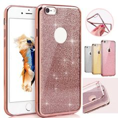 Glitter Plating Frame TPU Case For iPhone 6 6s 4.7 inch Luxury Bling Silicone Back Phone Cover Cases For iPhone 6s Plus 5.5inch