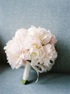 This pale pink peony bouquet = pretty, pretty pretty: http://www.stylemepretty.com/destination-weddings/2016/03/08/classic-pink-munich-wedding/   Photography: Ashley Ludaescher - http://ashleyludaescher.com/