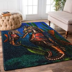 Size: Small: 5' x 3' Medium: 6' x 4' Large: 8' x 5' X-Large: 9' x 6' Great for any decor, adds texture to the floor and complements any decor. Durable and resistant to soiling, stain, and fading. Feels soft under your foot and vivid colors won't fade over time. Your rug will instantly add fashion to any room's decor. Trendy Colors, Vivid Colors, Coastal Industrial, Bag Packaging, Bay Window, Woven Fabric, Shag Rug, Digital Prints, Steampunk