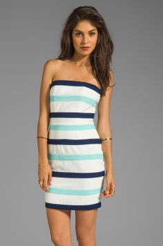 d37ad2166c2cf Talulah The Passion Stone Dress in White/Navy/Aqua-Mint from  REVOLVEclothing Mint