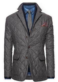 H.E.BY MANGO - CLOTHING - Outerwear - Herringbone husky jacket