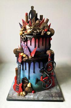 Rad drip! - http://cakesdecor.com/cakes/308151-rad-drip
