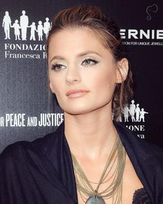 """Stana Katic at the Artists For Peace And Justice's launch for """"A Ring to Educate a Child in Haiti"""" (2011)."""