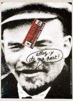 Maison de la Culture de Grenoble. 300 affiches politiques, sociales et culturelles (Cieslewicz, Gesgon, Grapus). Allez-y de ma part ! Vladimir Illitch Lénine. Du 9 février au 29 avril 79