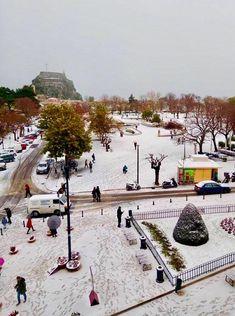 Corfu Greece, Travel Tips, Paradise, Street View, Snow, Island, Winter, Corfu, Winter Time