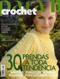 Album Archive - Clarín Crochet 2005 Nº 08 Crochet Chart, Love Crochet, Knit Crochet, Crochet Patterns, Crochet Sweaters, Crochet Tutorials, Crochet Ideas, Knitting Magazine, Crochet Magazine