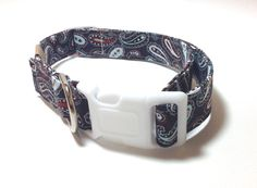 Large Adjustable Dog Collar  Western Paisley by ShortcakeDesigns, $16.00