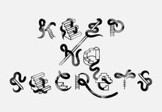 Typographical illustration by Janine Rewell for Forty Days Of Dating project by Jessica Walsh and Timothy Goodman