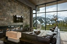 Lower Foxtail residence, Big Sky, MT. Teton Heritage Builders.