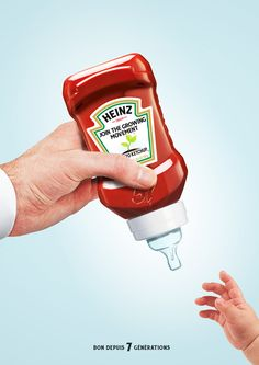 Baby Heinz Ketchup Good Advertisements, Creative Advertising, Advertising Poster, Advertising Design, Marketing And Advertising, Advertising Techniques, Funny Ads, Guerilla Marketing, Art History