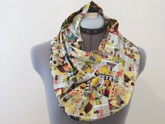 Popeye and Friends Adult Infinity Scarf by AquamarCouture on Etsy