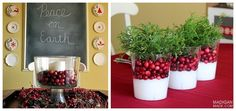 Cranberry Centerpieces | 28 Insanely Easy Christmas Decorations To Make In A Pinch
