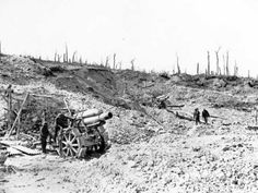 German guns captured by the Canadians at the Battle of Vimy Ridge, 9–12 April 1917. [AWM H07084]