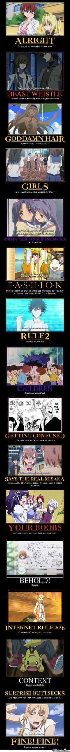 Anime demotivational posters compilation