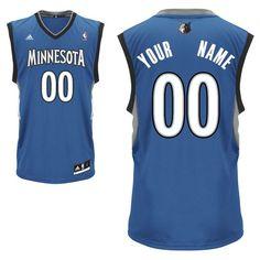 adidas Minnesota Timberwolves Custom Replica Road Jersey - $99.99