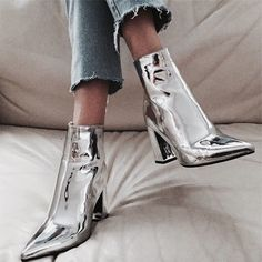 shiny shoes #boots #winter